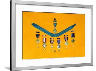 United States Military Medals--Framed Photographic Print