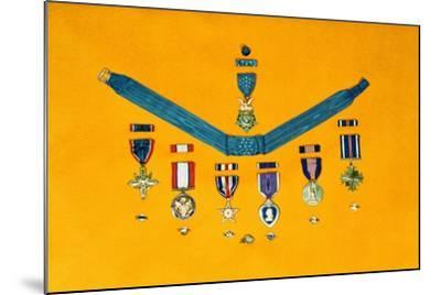 United States Military Medals--Mounted Photographic Print