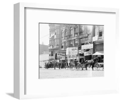 Businesses on Fillmore Street--Framed Photographic Print