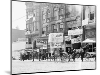 Businesses on Fillmore Street--Mounted Photographic Print
