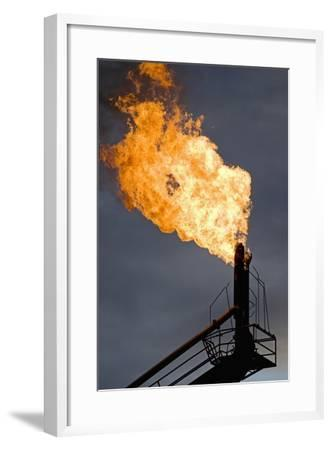 Natural Gas Flare--Framed Photographic Print