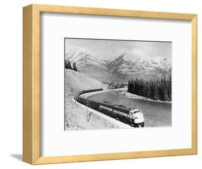 View of Moving Train--Framed Photographic Print
