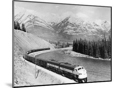 View of Moving Train--Mounted Photographic Print