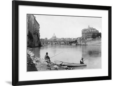 View of Rome and the Tiber (1900)--Framed Photographic Print