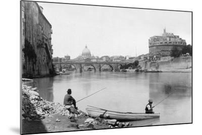 View of Rome and the Tiber (1900)--Mounted Photographic Print