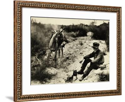 Prospector Preparing Meal for Himself--Framed Photographic Print