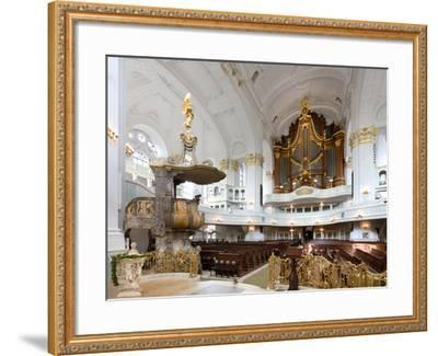 West-Facing of Steinmeyer Organ in St Michaelis Church, Hamburg, Germany-Andreas Lechtape-Framed Photographic Print