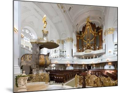 West-Facing of Steinmeyer Organ in St Michaelis Church, Hamburg, Germany-Andreas Lechtape-Mounted Photographic Print