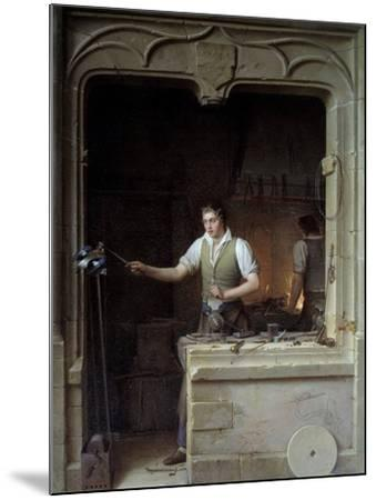 A Locksmith Seeking to Make a Jay Bite His Metal File by Jean Antoine Laurent--Mounted Photographic Print