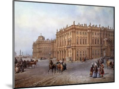 View of the Winter Palace in Saint Petersburg in 1843 by Vasily Sodovnikof--Mounted Photographic Print
