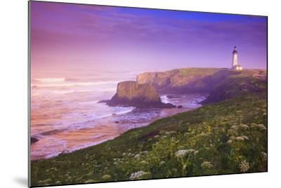 Sunrise Thru Fog, Yaquina Head Lighthouse, Oregon Coast. Pacific Northwest, United States-Craig Tuttle-Mounted Photographic Print