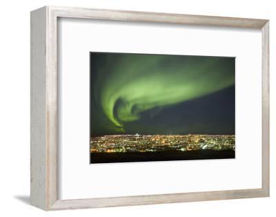 Aurora Borealis over Reykjavik-Arctic-Images-Framed Photographic Print