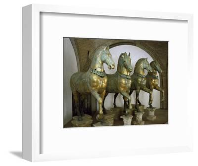 Bronze Horses of San Marco in Venice--Framed Photographic Print