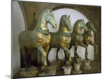 Bronze Horses of San Marco in Venice--Mounted Photographic Print