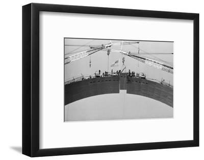 Placing Keystone into Gateway Arch in St. Louis--Framed Photographic Print