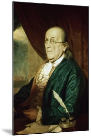 Portrait of Benjamin Franklin--Mounted Photographic Print