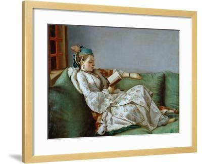 Portrait of Marie Adelaide of France by Jean-Etienne Liotard--Framed Photographic Print