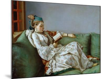 Portrait of Marie Adelaide of France by Jean-Etienne Liotard--Mounted Photographic Print