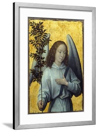 Angel Holding an Olive Branch by Hans Memling--Framed Photographic Print