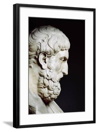 Bust Sculpture of Epicurus--Framed Photographic Print