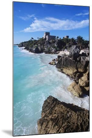 Mexico, Yucatan Peninsula, Carribean Sea at Tulum, the Only Mayan Ruin by Sea-Chris Cheadle-Mounted Photographic Print