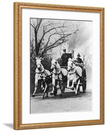 Fire Engine under Full Steam--Framed Photographic Print