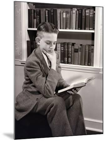 Boy Reading-Philip Gendreau-Mounted Photographic Print
