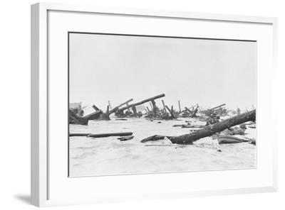 Invaders on Omaha Beach--Framed Photographic Print