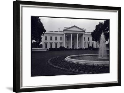 Facade of the White House--Framed Photographic Print