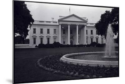 Facade of the White House--Mounted Photographic Print