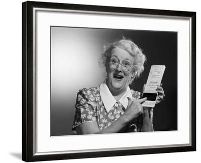 Old Woman with Excited Expression-Philip Gendreau-Framed Photographic Print
