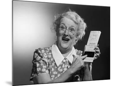 Old Woman with Excited Expression-Philip Gendreau-Mounted Photographic Print