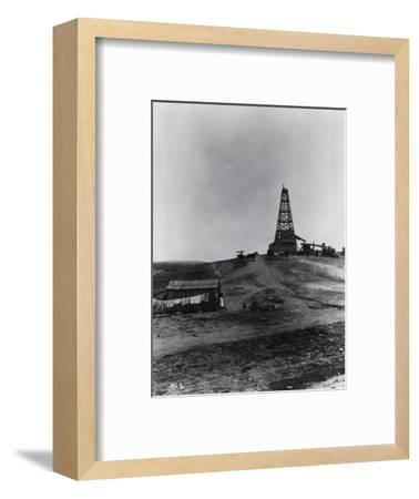 Early Oil Drilling Operation--Framed Photographic Print