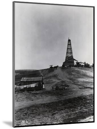 Early Oil Drilling Operation--Mounted Photographic Print