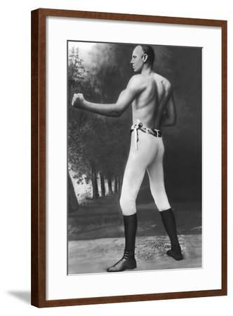 Full Length Muscular Bob Fitzsimmons--Framed Photographic Print