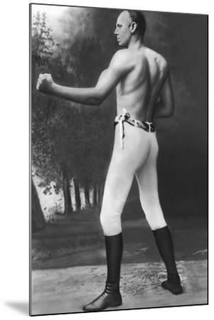 Full Length Muscular Bob Fitzsimmons--Mounted Photographic Print