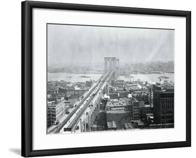 Brooklyn Bridge from World Building--Framed Photographic Print