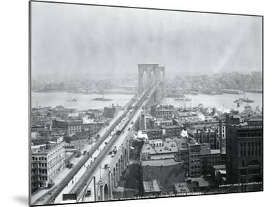 Brooklyn Bridge from World Building--Mounted Photographic Print