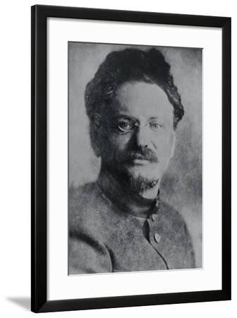 Portrait of Leon Trotsky--Framed Photographic Print