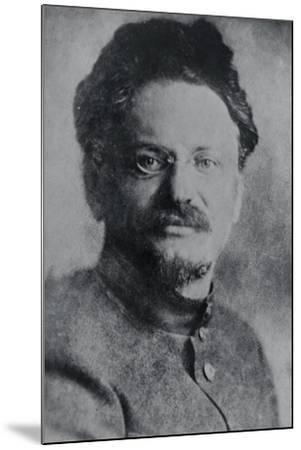 Portrait of Leon Trotsky--Mounted Photographic Print
