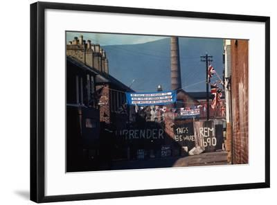 Barricade Erected by Belfast Protestants 1969--Framed Photographic Print