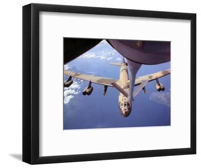 View of USAF B-52 Stratofortress Bomber in Flight--Framed Photographic Print