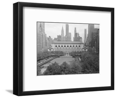 Bryant Park Looking toward Public Library-Philip Gendreau-Framed Photographic Print