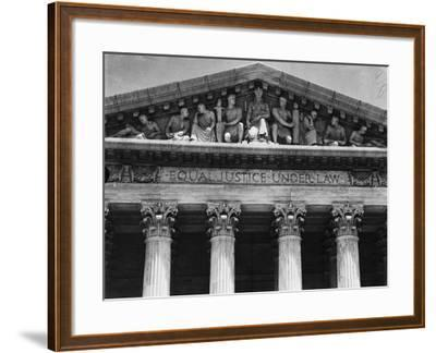 Pediment of the Supreme Court--Framed Photographic Print