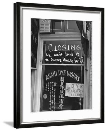 Little Tokyo Dye Works-Russell Lee-Framed Photographic Print