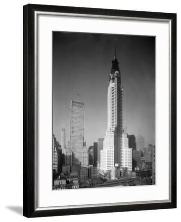 Chrysler Building under Construction--Framed Photographic Print