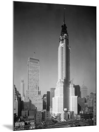 Chrysler Building under Construction--Mounted Photographic Print