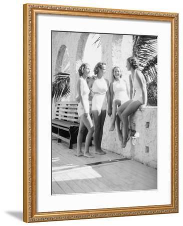 Women Gather Poolside-Philip Gendreau-Framed Photographic Print