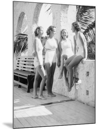 Women Gather Poolside-Philip Gendreau-Mounted Photographic Print