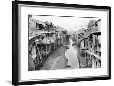 Scene of Squalid Living Area in Village-Nat Gibson-Framed Photographic Print